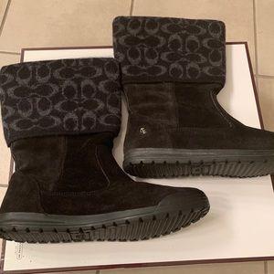 Black Coach Boots Size 10
